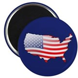 """United States Bubble Map"" 2.25"" Magnet (100 pack)"