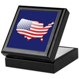 """United States Bubble Map"" Keepsake Box"