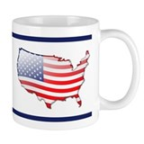 """United States Bubble Map"" Mug"