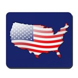 """United States Bubble Map"" Mousepad"