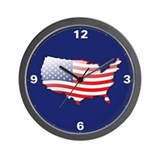 """United States Bubble Map"" Wall Clock"