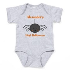Kawaii Halloween Spider PD Baby Bodysuit
