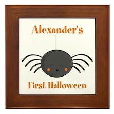 Kawaii Halloween Spider PD Framed Tile