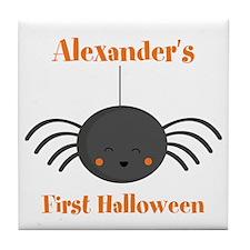 Kawaii Halloween Spider PD Tile Coaster