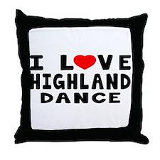 I Love Highland Throw Pillow