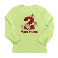 2nd Birthday Farm Long Sleeve T-Shirt
