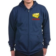 Wisconsin Cheese Wedge Zip Hoodie