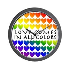 Love Comes in All Colors Wall Clock
