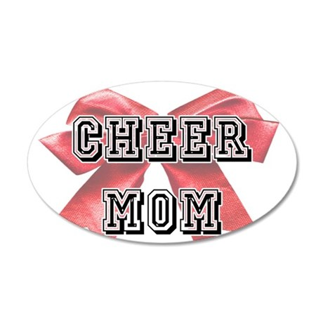 Red Cheer Mom Wall Decal