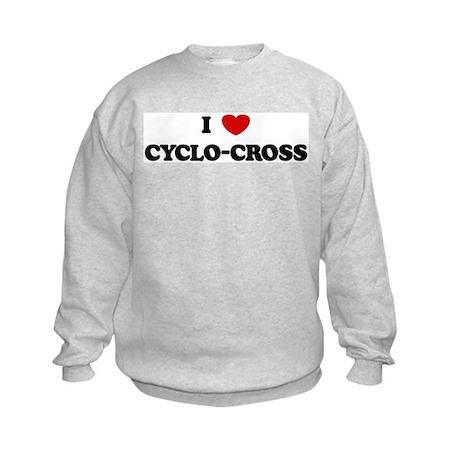 I Love Cyclo-Cross Kids Sweatshirt