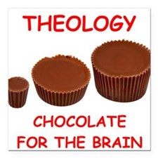 """theology Square Car Magnet 3"""" x 3"""""""