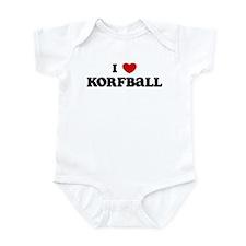 I Love Korfball Infant Bodysuit