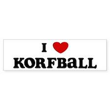 I Love Korfball Bumper Bumper Sticker