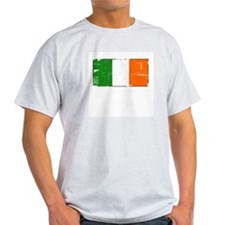 Vintage Irish Flag Ash Grey T-Shirt
