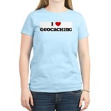 I Love Geocaching Women's Pink T-Shirt
