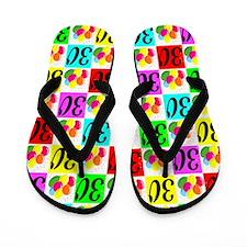 FESTIVE 30TH Flip Flops