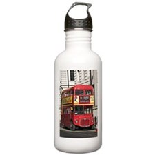 Vintage Red London Bus Sports Water Bottle
