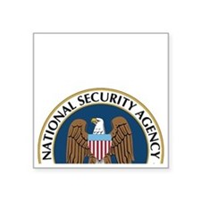"NSA Monitored Device Square Sticker 3"" x 3"""