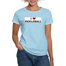 I Love Pickleball Women's Pink T-Shirt