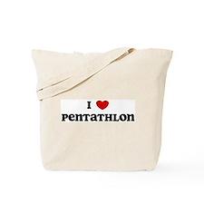 I Love Pentathlon Tote Bag