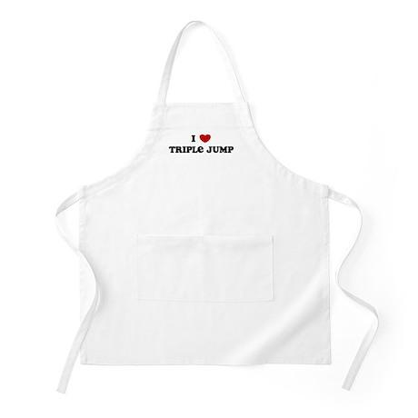 I Love Triple Jump BBQ Apron