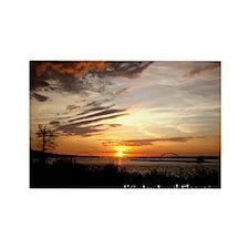 Sunrise on the Ohio Rectangle Magnet