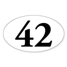 42 Oval Decal
