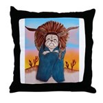 Chief Standing Bull Throw Pillow