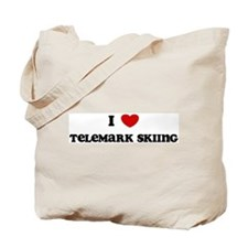I Love Telemark Skiing Tote Bag