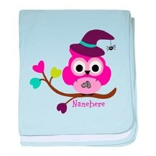 Personalized Wicked Witch Owl baby blanket