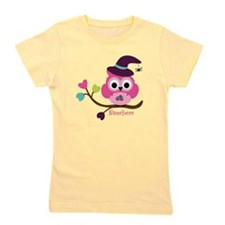 Personalized Wicked Witch Owl Girl's Tee