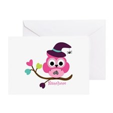 Personalized Wicked Witch Owl Greeting Card