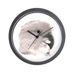 Umbrella Cockatoo Digital Oil Wall Clock