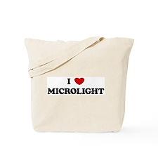 I Love Microlight Tote Bag