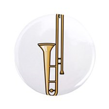"""trombone upright graphic 3.5"""" Button (100 pack)"""
