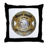 Big Horn County Sheriff Throw Pillow