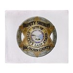 Big Horn County Sheriff Throw Blanket