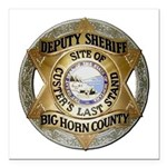 Big Horn County Sheriff Square Car Magnet 3