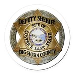 Big Horn County Sheriff Round Car Magnet