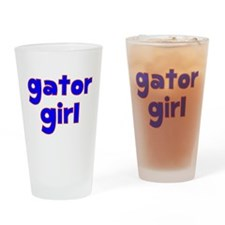 Gator Girl Drinking Glass