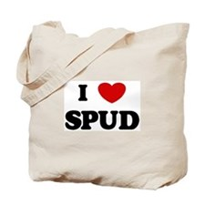 I Love Spud Tote Bag