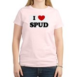 I Love Spud Women's Pink T-Shirt