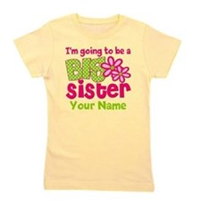 Big Sister To Be Pink Green Girl's Tee
