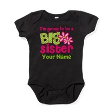 Big Sister To Be Pink Green Baby Bodysuit