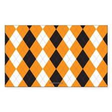 Halloween Cute Pattern Orange Black Argle Decal