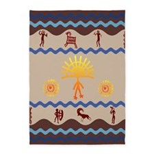 Spirit Path Rock Art 5'x7'Area Rug
