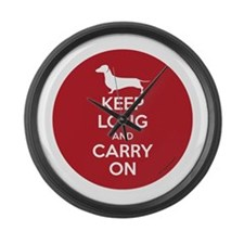 Keep Long and Carry On Large Wall Clock