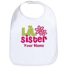 Lil Sister Pink Green Bib