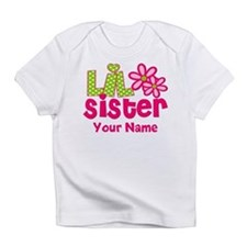 Lil Sister Pink Green Infant T-Shirt
