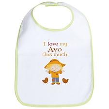 Scarecrow I Love Avo Bib